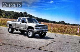 "1998 Chevrolet Silverado 1500 - 16x8 -12.07mm - American Racing Slider - Suspension Lift 6"" - 315/75R16"