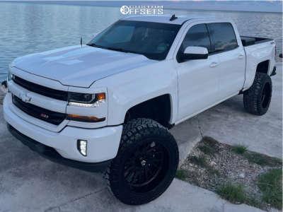 """2018 Chevrolet Silverado 1500 - 22x12 -44mm - TIS 547b - Suspension Lift 6.5"""" - 35"""" x 12.5"""""""