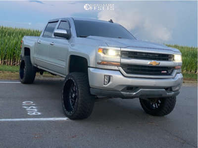 "2016 Chevrolet Silverado 1500 - 24x12 -44mm - TIS 544bm - Suspension Lift 7"" - 35"" x 12.5"""