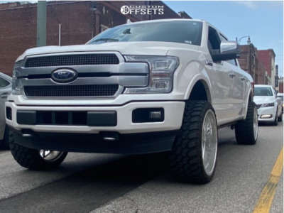 """2019 Ford F-150 - 24x12 -44mm - KG1 Forged Vile - Stock Suspension - 33"""" x 12.5"""""""