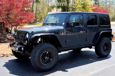 "2016 Jeep Wrangler JK - 17x8.5 0mm - Raceline 7x - Suspension Lift 2.5"" - 35"" x 12.5"""