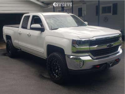 "2018 Chevrolet Silverado 1500 - 20x10 -12mm - LRG 116 - Suspension Lift 3.5"" - 275/60R20"