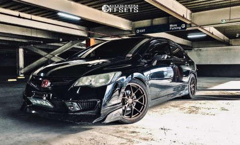 2007 Honda Civic - 18x8.5 45mm - Rota KBF - Lowering Springs - 225/40R18