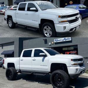 """2018 Chevrolet Silverado 1500 - 24x14 -81mm - ARKON OFF-ROAD Caesar - Suspension Lift 8"""" - 35"""" x 13.5"""""""