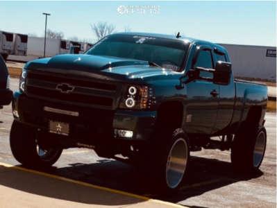 """2013 Chevrolet Silverado 1500 - 24x14 -76mm - Cali Offroad Gemini - Suspension Lift 8"""" - 35"""" x 15.5"""""""