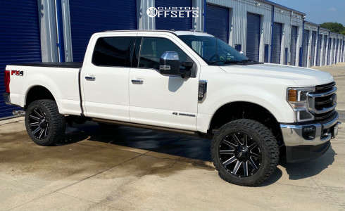"""2021 Ford F-250 Super Duty - 22x10 -18mm - Fuel Contra - Leveling Kit - 35"""" x 12.5"""""""