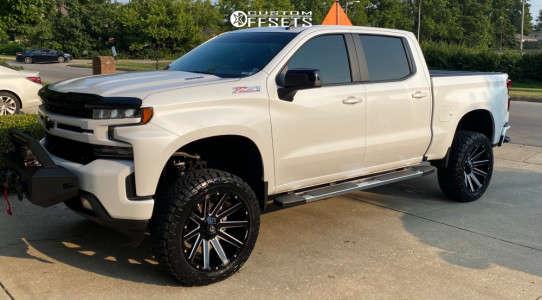 """2020 Chevrolet Silverado 1500 - 22x10 -19mm - Fuel Contra - Suspension Lift 6"""" - 35"""" x 12.5"""""""