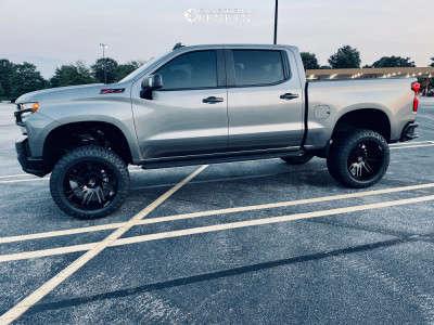 "2021 Chevrolet Silverado 1500 - 22x12 -51mm - ARKON OFF-ROAD Davinci - Suspension Lift 6"" - 35"" x 13.5"""