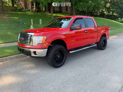 """2010 Ford F-150 - 20x9 0mm - Panther Offroad 580 - Suspension Lift 3"""" - 33"""" x 12.5"""""""
