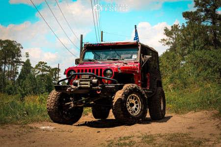 "2006 Jeep Wrangler - 16x9 0mm - Method Grid - Suspension Lift 3.5"" - 35"" x 12.5"""