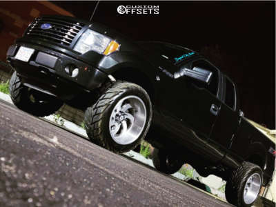 """2014 Ford F-150 - 22x12 -44mm - American Force Blade Ss - Suspension Lift 3"""" - 35"""" x 12.5"""""""