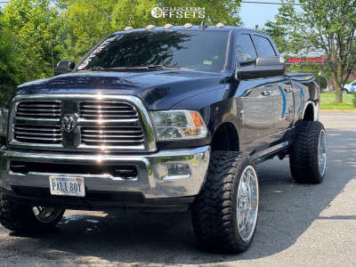 """2016 Ram 2500 - 24x14 0mm - American Truxx Forged Orion - Suspension Lift 2.5"""" - 35"""" x 13.5"""""""