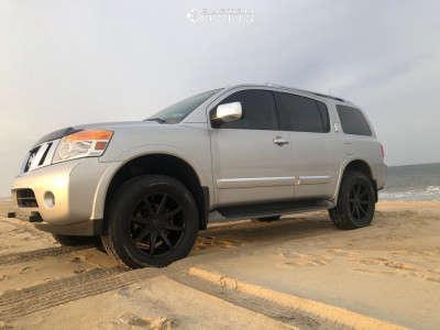 "2011 Nissan Armada - 20x8.5 42mm - Dub Push - Suspension Lift 2.5"" - 285/65R20"
