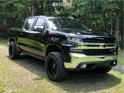 "2020 Chevrolet Silverado 1500 - 20x10 -18mm - Fuel Hostage - Leveling Kit - 33"" x 12.5"""