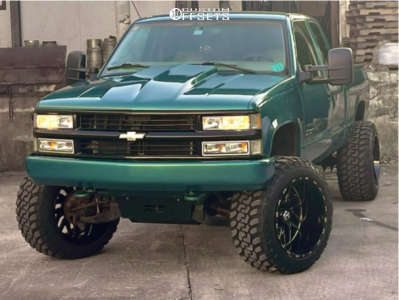 "1998 Chevrolet Silverado 1500 - 22x14 -76mm - Tis 544bm - Suspension Lift 6"" - 35"" x 13.5"""