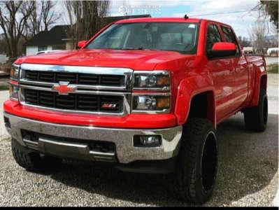 "2014 Chevrolet Silverado 1500 - 22x12 -45mm - Ballistic Yukon - Suspension Lift 6"" - 33"" x 14"""
