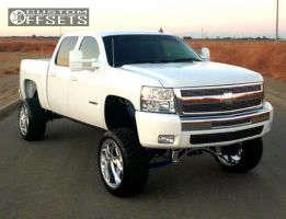 "2007 Chevrolet Silverado 1500 - 22x12 -50mm - Weld Racing Cheyenne - Suspension Lift 9"" - 33"" x 12.5"""