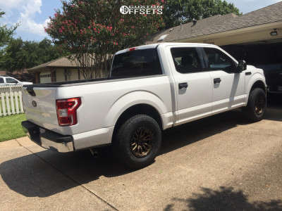 2018 Ford F-150 - 17x9 1mm - Fuel Rebel - Leveling Kit - 285/70R17
