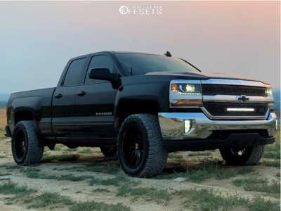 "2019 Chevrolet Silverado 1500 LD - 20x10 -25mm - ARKON OFF-ROAD Davinci - Leveling Kit - 33"" x 12.5"""