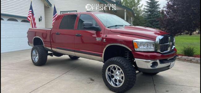 "2008 Dodge Ram 3500 - 20x12 -44mm - Fuel Krank - Suspension Lift 6"" - 35"" x 12.5"""