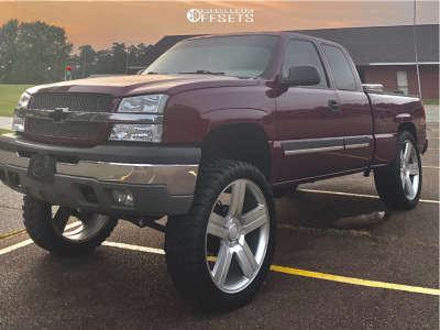 """2003 Chevrolet Silverado 1500 - 26x10 0mm - Eclipse Replica 258 - Suspension Lift 6"""" - 37"""" x 13.5"""""""