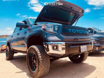"2016 Toyota Tundra - 20x10 -24mm - XD Buck 25 - Suspension Lift 6"" - 35"" x 12.5"""