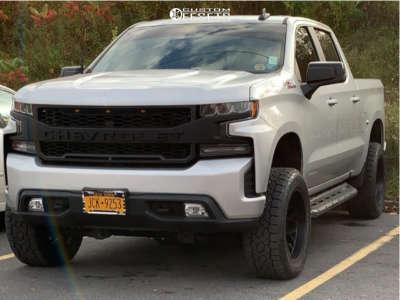 "2020 Chevrolet Silverado 1500 - 20x10 -25mm - Vision Rocker - Suspension Lift 4"" - 33"" x 10.5"""