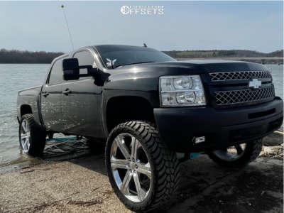"2013 Chevrolet Silverado 1500 - 26x10 30mm - Reps G13 - Suspension Lift 7.5"" - 37"" x 13.5"""