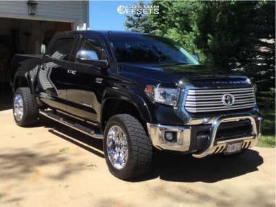 "2014 Toyota Tundra - 20x10 -24mm - XD Riot - Suspension Lift 6"" - 30"" x 20"""
