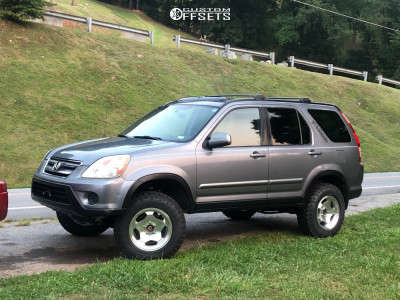 """2005 Honda CR-V - 16x8 25mm - Ultra Type 50 - Suspension Lift 3"""" - 225/75R16"""