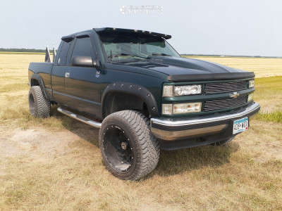 "1998 Chevrolet K1500 - 20x12 -44mm - Anthem Off-Road Avenger - Suspension Lift 4.5"" - 33"" x 11.5"""