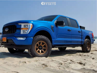 """2021 Ford F-150 - 17x9 0mm - Vision Flow - Suspension Lift 2.5"""" - 285/75R17"""