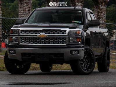 2014 Chevrolet Silverado 1500 - 20x10 -18mm - Moto Metal Mo985 - Leveling Kit - 275/55R20