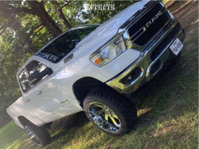 "2020 Ram 1500 - 22x12 -51mm - ARKON OFF-ROAD Lincoln - Suspension Lift 6"" - 33"" x 12.5"""