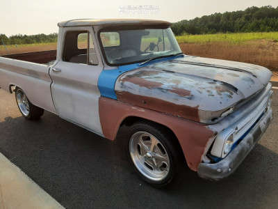 "1964 Chevrolet C10 Pickup - 20x9.5 0mm - Rev Classic 111 - Stock Suspension - 44"" x 20"""