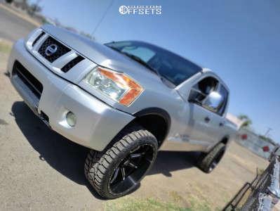 """2008 Nissan Titan - 22x12 2mm - Xf Offroad Xf-221 - Leveling Kit - 33"""" x 12.5"""""""