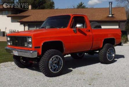 "1983 Chevrolet K10 - 20x14 -76mm - Fuel 536 - Suspension Lift 6"" - 35"" x 13.5"""