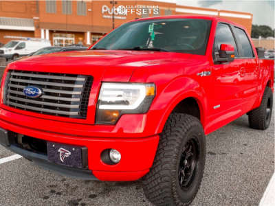 """2011 Ford F-150 - 18x5 -9mm - Fuel Rebel - Leveling Kit - 35"""" x 12.5"""""""