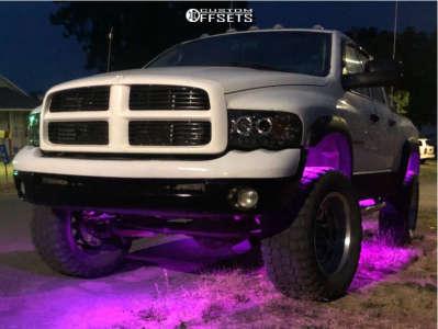 "2004 Dodge Ram 2500 - 20x11 -24mm - Jesse James Lawless - Leveling Kit - 35"" x 12.5"""