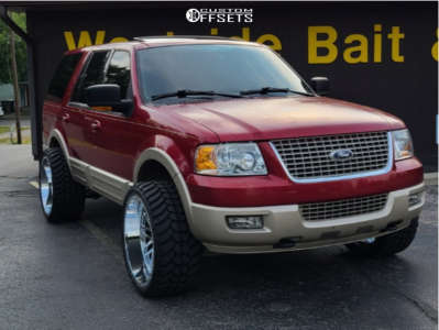 """2006 Ford Expedition - 24x12 -44mm - Hardcore Offroad Hc19 - Suspension Lift 3"""" - 33"""" x 13.5"""""""
