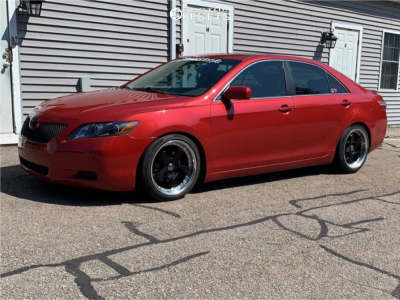 2009 Toyota Camry - 18x8.5 30mm - G-Line G8073 - Coilovers - 215/45R18
