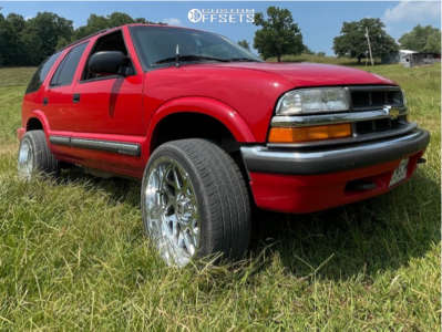 2000 Chevrolet Blazer - 20x10 -19mm - Hostile Sprocket - Stock Suspension - 275/35R20