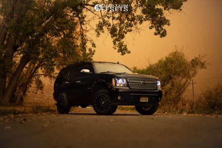 "2012 Chevrolet Tahoe - 20x9 0mm - KMC Km535 - Leveling Kit - 33"" x 9.5"""