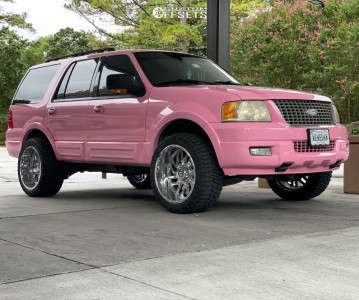 """2005 Ford Expedition - 22x12 -44mm - Tis 544c - Leveling Kit - 33"""" x 12.5"""""""