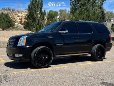 2014 Cadillac Escalade - 22x10 -25mm - Hardrock Commander - Leveling Kit - 285/45R22