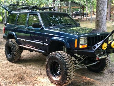 "2000 Jeep Cherokee - 15x10 -38mm - Cragar Soft 8 - Suspension Lift 8.5"" - 35"" x 13.5"""