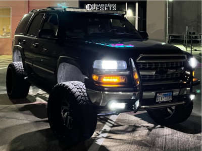 """2005 Chevrolet Tahoe - 24x14 -76mm - Xtreme Force Xf-8 - Suspension Lift 8"""" - 35"""" x 13.5"""""""