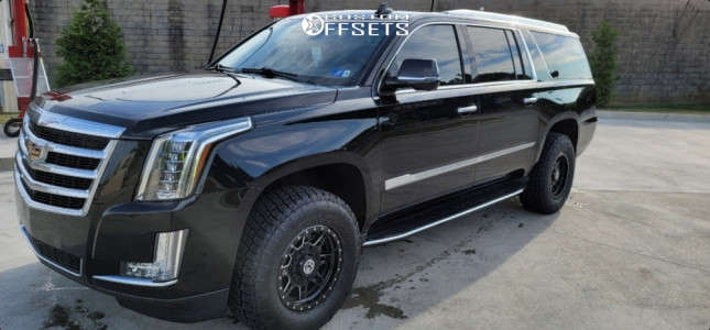 2018 Cadillac Escalade ESV - 17x8.5 0mm - Anthem Off-Road Rogue - Leveling Kit - 285/70R17