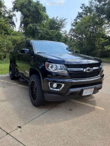 2018 Chevrolet Colorado - 20x9 -10mm - Hd Offroad Caliber - Leveling Kit - 275/55R20