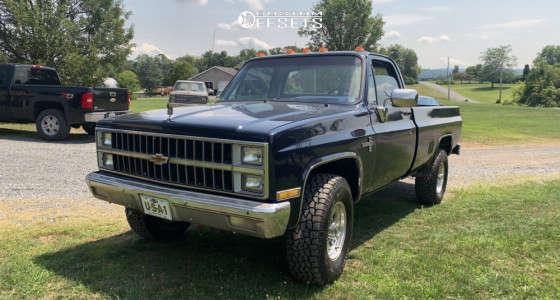 "1982 Chevrolet K20 - 16x8 0mm - Pro Comp 69 - Stock Suspension - 32"" x 8.5"""